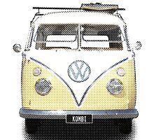 Volkswagen Kombi Newsprint  by BlulimeMerch