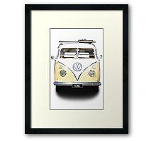 Volkswagen Kombi Newsprint  Framed Print