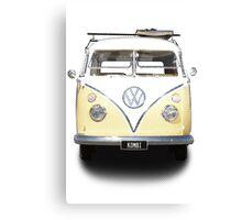 Volkswagen Kombi Newsprint © Canvas Print