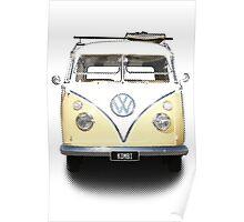 Volkswagen Kombi Newsprint  Poster