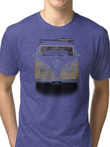 Volkswagen Kombi Newsprint © Tri-blend T-Shirt