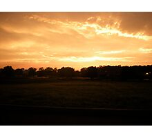 Orange Cream Sky Photographic Print
