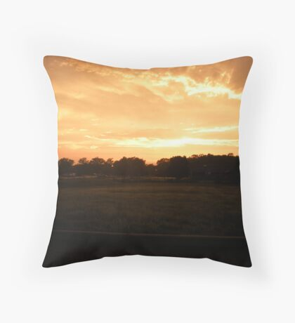 Orange Cream Sky Throw Pillow