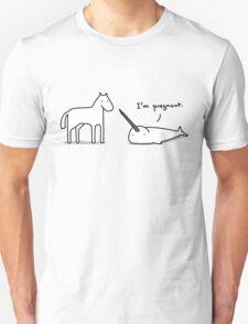 Unicorn I'm Pregnant Unisex T-Shirt