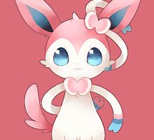 Sitting Sylveon by Eat Sleep Poke Repeat