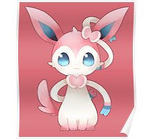 Sitting Sylveon Poster