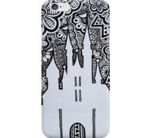 Castle Silhouette Zentangle iPhone Case/Skin