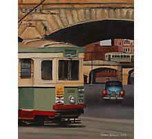 Trams & The Colonnade Photographic Print