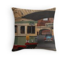 Trams & The Colonnade Throw Pillow
