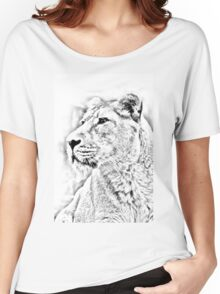 Lioness Portrait Women's Relaxed Fit T-Shirt