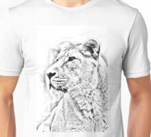 Lioness Portrait Unisex T-Shirt