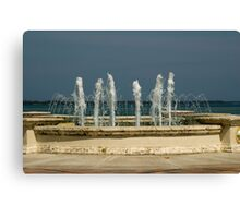 Fountain with a View Canvas Print