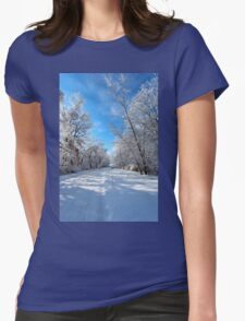 Miles to go... Womens Fitted T-Shirt