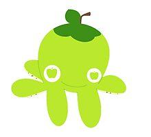 Green Apple Octopus by HarmlessPet