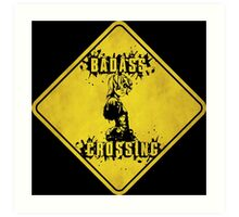 Tiny Tina Badass Crossing (Worn Sign) Art Print