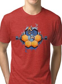 Blue Honey Mushroom Head Tri-blend T-Shirt
