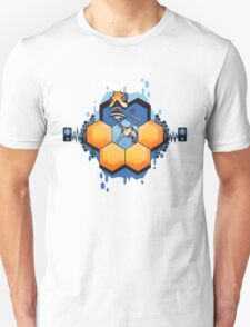 Blue Honey Mushroom Head Unisex T-Shirt