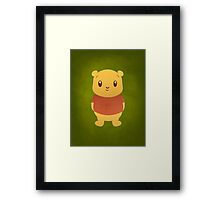 Cute Pooh Bear Framed Print
