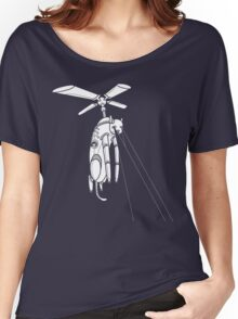 Cat Helicopter searching at ya Women's Relaxed Fit T-Shirt