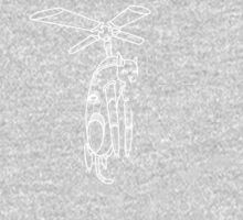 Cat Helicopter searching at ya outline version Baby Tee