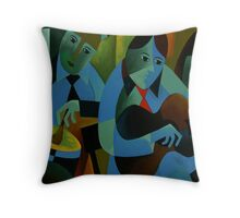 BLUES IN B Throw Pillow