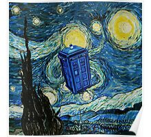 Starry Night Flying Tardis Doctor Who Poster