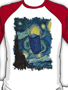 Starry Night Flying Tardis Doctor Who T-Shirt