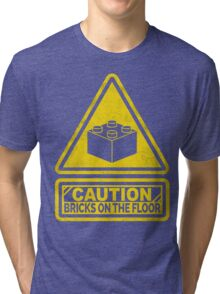 Watch Your Steps Lego Tri-blend T-Shirt