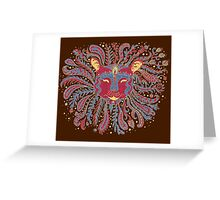 Paisley Lion Greeting Card