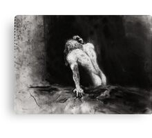 Morning Sex, Sadness; charcoal and chalk Canvas Print