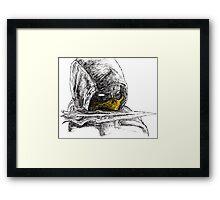Scorpion Spear Mortal Kombat X Art Framed Print