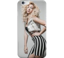 Flirting Young Hip female teen with blond curly hair  iPhone Case/Skin