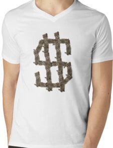 Cat$ Mens V-Neck T-Shirt
