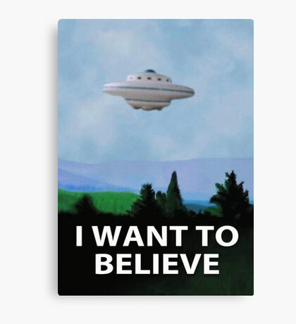Planet X Files Canvas Print