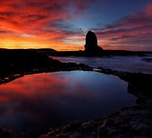 Red'N'Pink Pulpit Dawn by Robert Mullner