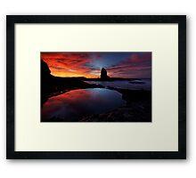Red'N'Pink Pulpit Dawn Framed Print