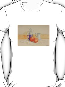 Still life with cups and oranges T-Shirt