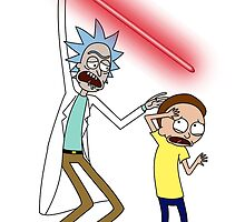 Rick and Morty Saber Battle by bossofsloths