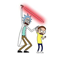 Rick and Morty Saber Battle Photographic Print