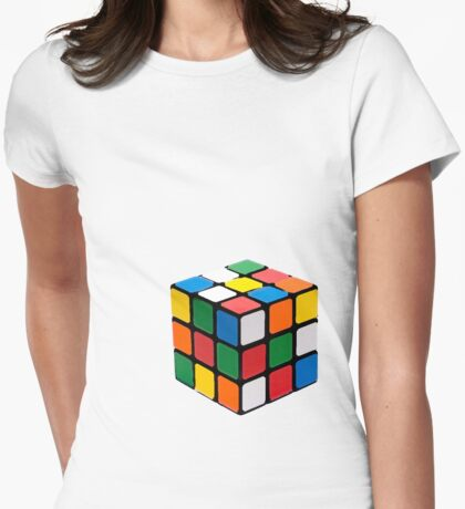 Rubix Cube Womens Fitted T-Shirt