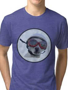 Chihuahua and the Bike Safety Message Tri-blend T-Shirt