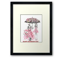 Happy Mother's Day print Framed Print