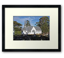 St.James Church Ranelagh, Tasmania. 1896 Framed Print