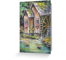 Mill on Pond Greeting Card