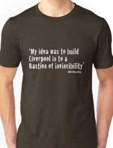 Bill Shankly - Bastion of Invincibility (Dark Tees) Unisex T-Shirt