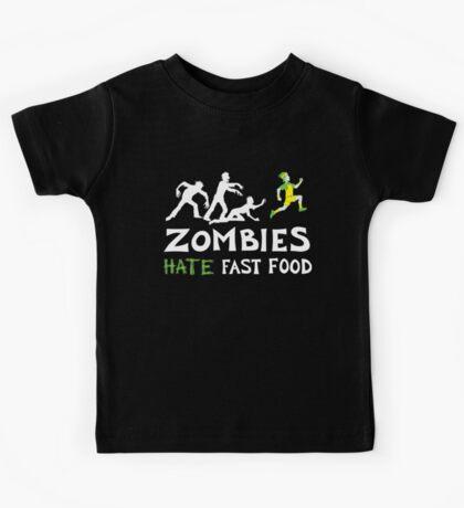 Zombies Hate Fast Food Kids Tee