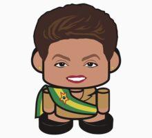 Dilma Rousseff Politico'bot Toy Robot 1.0 Kids Tee