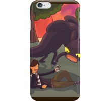 Toothless the dragon, and Hiccup the human iPhone Case/Skin