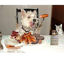 Ahhh, sausages. Photographic Print