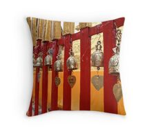 Temple fence Throw Pillow